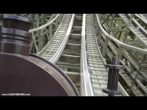 에버랜드 한국 T-Express Wooden Roller Coaster POV in HD Full Everland South Korea HD