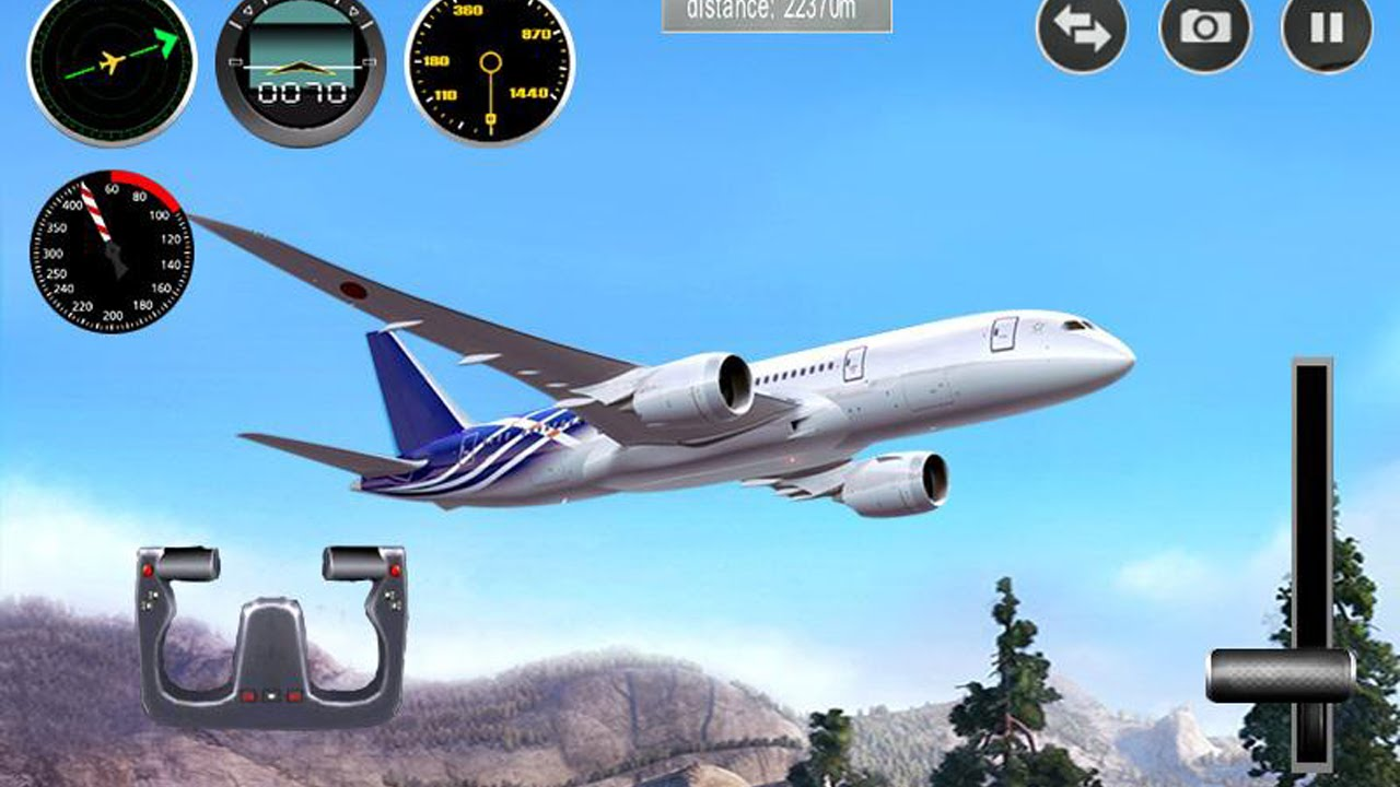 Plane simulator 3d gameplay android youtube for Simulatore 3d