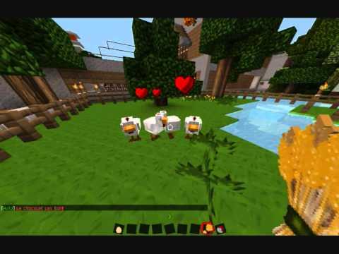 Minecraft comment faire se reproduire des poules youtube - Poule minecraft ...
