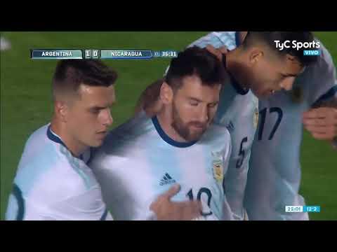 Argentina-Nicaragua: Messi se lució en el área para el primero