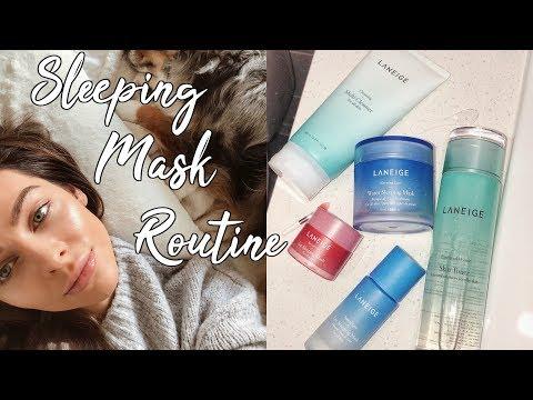 GLOWY SKIN OVERNIGHT | Sleeping Mask Routine thumbnail