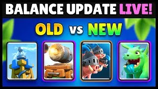 Balance Changes 8/6 OLD & New Comparison | Clash Royale Highlights
