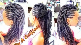 Crochet Braids Ghana : Half Braids Half Crochet Style Side Mohawk Using Marley Braid Hair ...