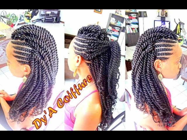 How To Mohawk Style With Ghana Cornrows Havana Twist By Dy A Youtube