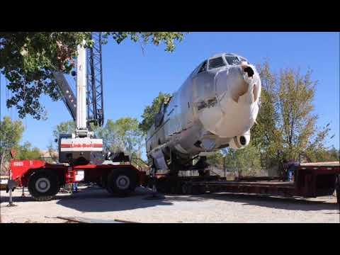 Boeing B-52 Moving the Airplane to its new Home Wichita Kansas