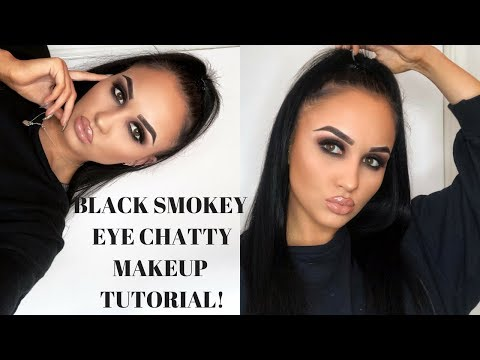 GRUNGE MATTE BLACK SMOKEY EYE TUTORIAL | Abigail Tamsin