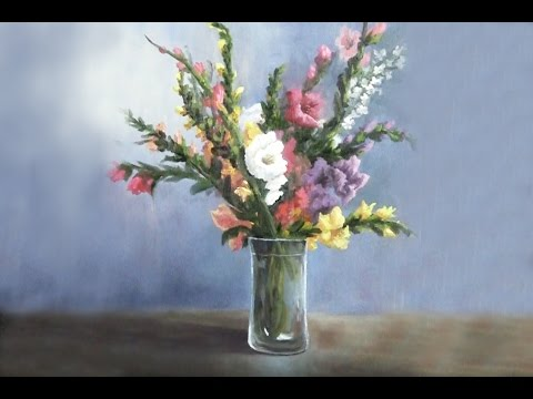 Gladiola Flowers in a Vase | Paint with Kevin Hill - YouTube