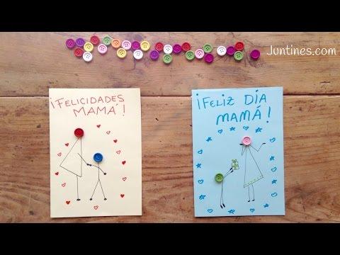 Manualidades para regalar a mamá hazle una tarjeta para el día de la madre con botones
