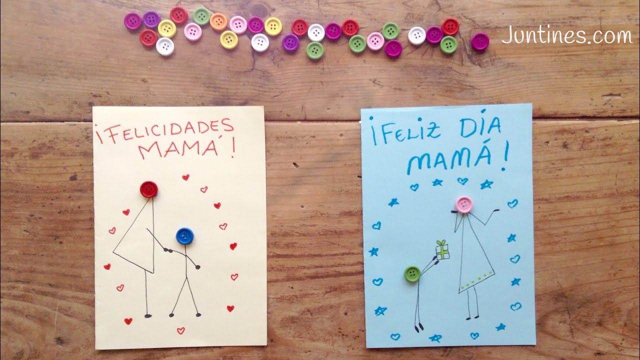 TARJETA para el día de la madre | manualidades para REGALAR a mamá ...