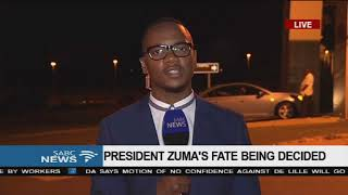 President Zuma\'s fate being decided, Aldrin Sampear reports from Irene