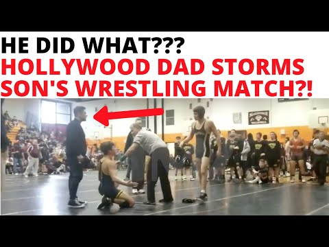 """HE DID WHAT?! """"Hollywood"""" Dad STORMS Son's HS Wrestling Match And Get's Thrown Out!!!"""