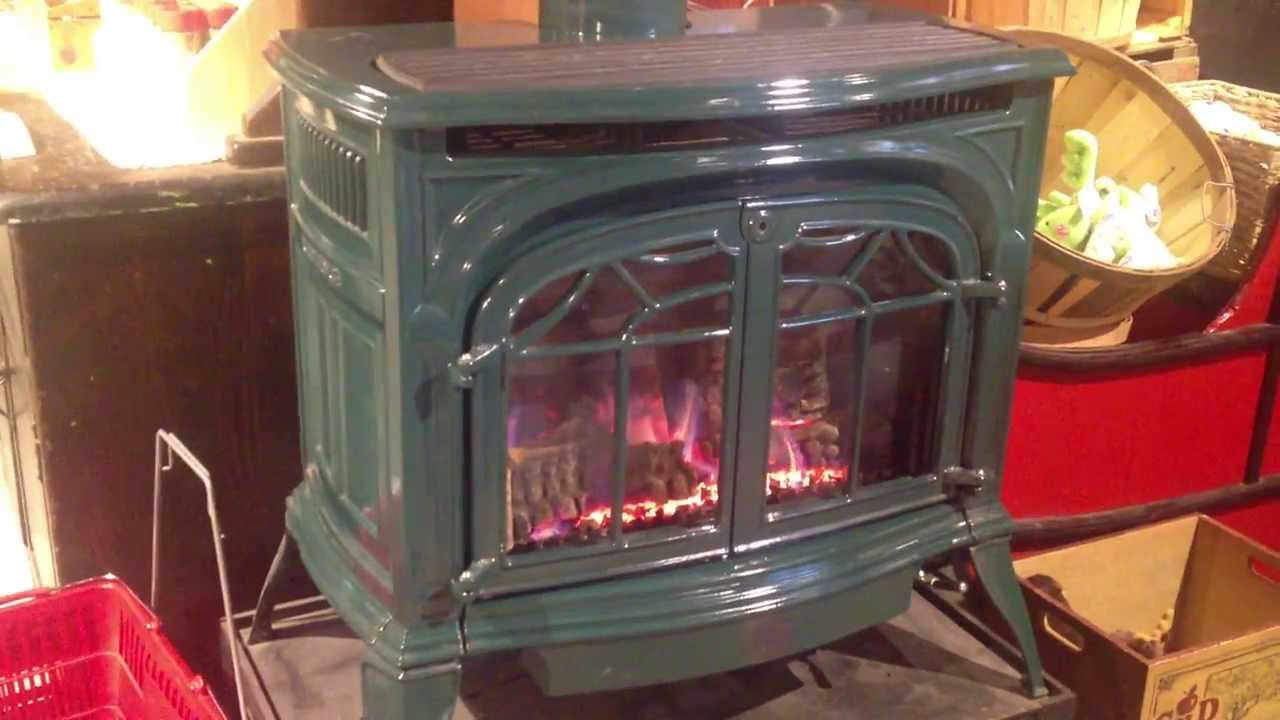 Vermont Castings Stove - View of the stove in operation.