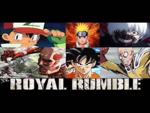 WWE 2k18 Royal Rumble Anime Characters