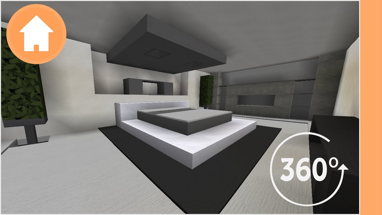 Minecraft bedroom designs 360 degree minecraft youtube for Bedroom ideas on minecraft