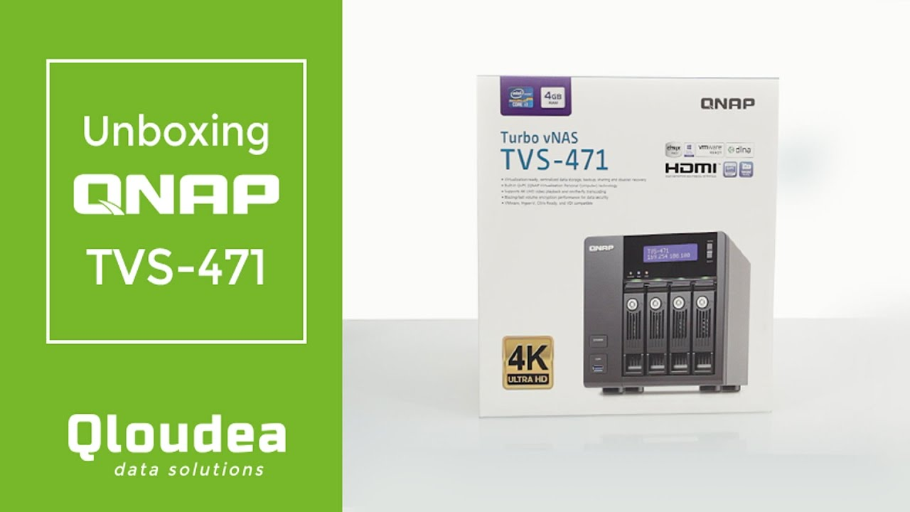 Unboxing Qnap Tvs 471 Servidor Nas De 4 Discos Youtube I3 4g