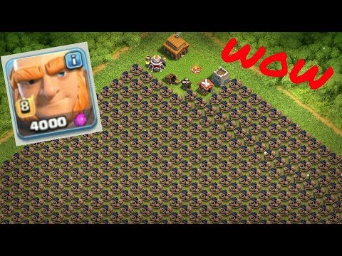 1000 LVL 8 GAINT VS 500 LVL 1 GIANT  BOMB ON COC PRIVATE SERVER ||  COC FUNNY ATTACK ||