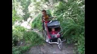 Transalp Albrecht Route mit zwei Kindern Kinderanhänger 2010