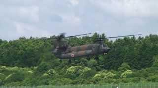 CH-47JAの離陸:熊本高遊原