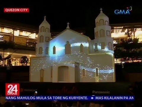 3D Christmas display sa isang mall, pinailawan
