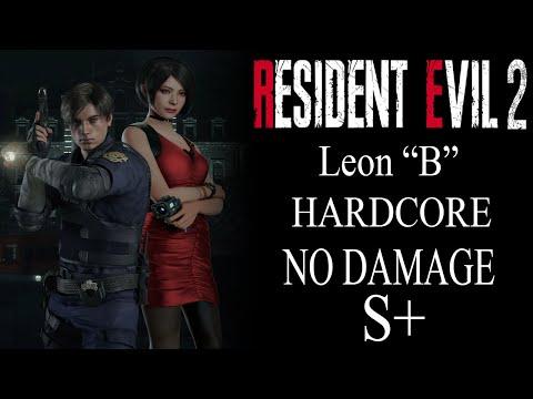 "Resident Evil 2 Remake: (PS4) Leon ""B"" Scenario Hardcore ""No Damage"" +S Rank"