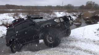 GAZ 66 vs Nissan Patrol vs Toyota LC 100 vs UAZ vs river off-road 4x4(off-road 4x4 На моем канале Вы сможете посмотреть много смешного,интересного,экстримального,веселого видео..., 2017-01-22T10:20:41.000Z)