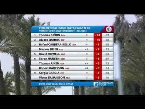 Højdepunkter fra 4. runde af Qatar Masters 2011 hvor Thomas Bjørn vandt