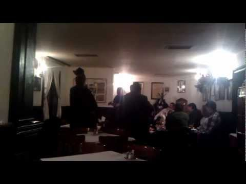 """National serbian songs in the old cafe """"Три шешира"""" (""""Three hats""""), Belgrade"""