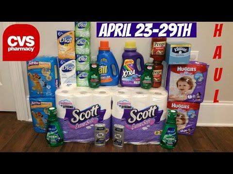 COUPON HAUL CVS 4/23/17! MONEYMAKER SCOPE/CHEAP TOILET PAPER/SOAP!