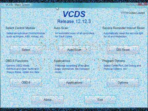 VCDS (VAG-COM) SRI Reset on Mk5 VW Golf