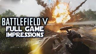 I LOVE DESTROYING TANKS - Battlefield V Full Game Impressions