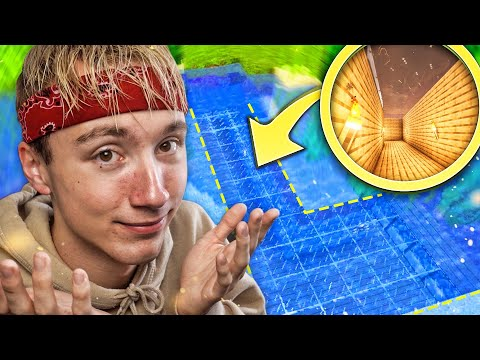ONTZICHTBAAR DAK in GEHEIME TUNNEL! - Minecraft Survival #12