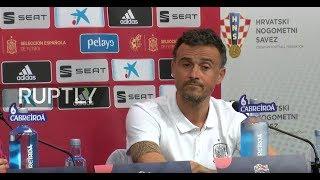 LIVE: Spain coach Luis Enrique talks to the press ahead of Croatia match