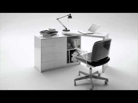 Schreibtisch matt drehbar youtube for Schreibtisch drehbar