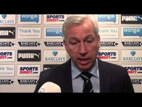 Alan Pardew, Papiss Cisse and Jak Alnwick On Chelsea Victory