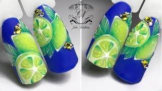 СОЧНЫЙ ЛАЙМ или ЛИМОН? Простой дизайн ногтей на лето.