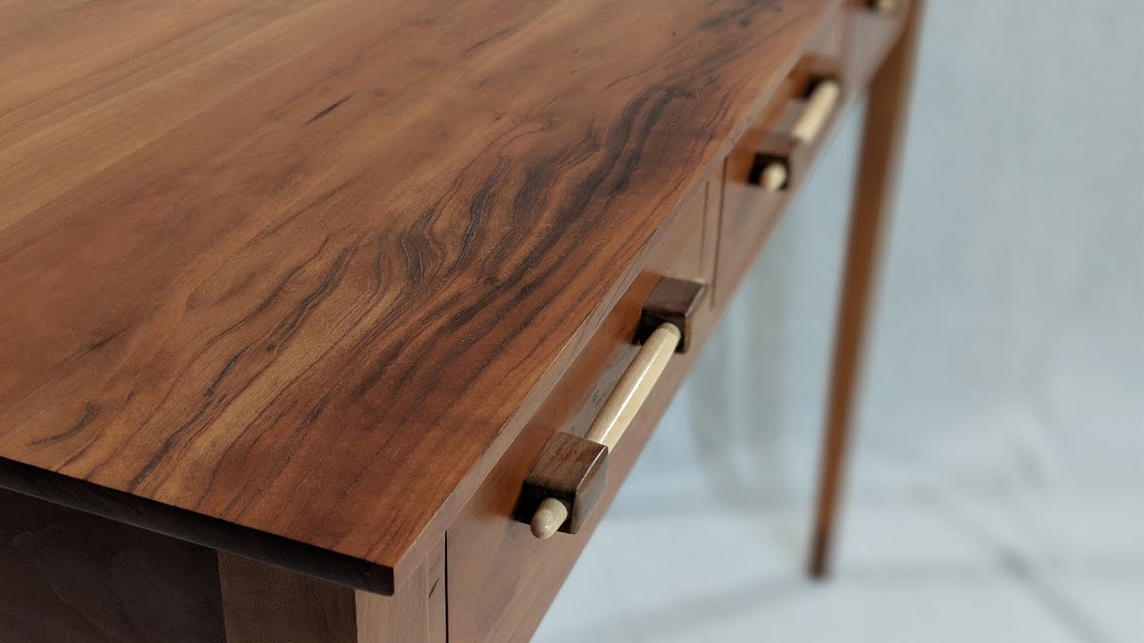 Building An Entry Table With Walnut Cuffed Legs