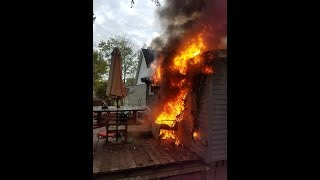 Newark Ohio Fire Department House Fire Dash Cam 158 S 5th