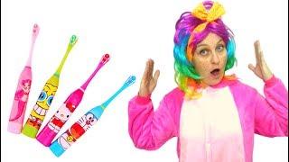 Pretend play brush your  teeth with Tawaki kids\Educational kids video