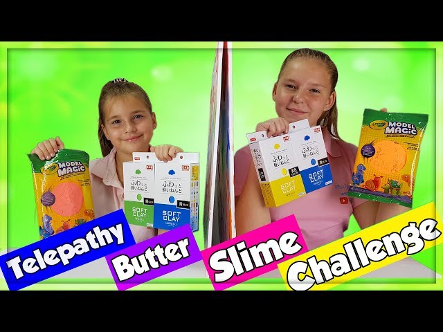 TWIN TELEPATHY  BUTTER SLIME CHALLENGE!!! en français