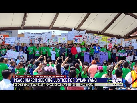 SUAB HMONG NEWS: EP 1 - Peace March for Dylan Yang in downtown Wausau, WI 05/31/2016