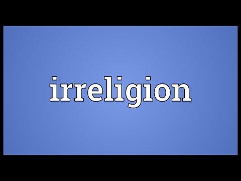 Irreligion Meaning