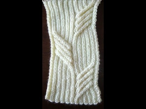 Knitting Cables Loose Stitches : KNITTING PATTERN - SWEEPING CABLE TUTORIAL - YouTube