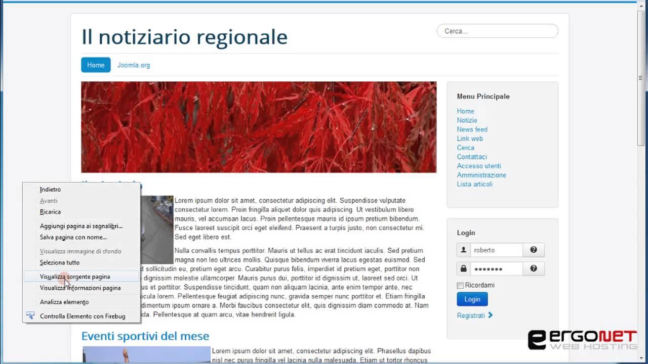 Corso Joomla 3.0/2.5 di Roberto Chimenti, lezione 036