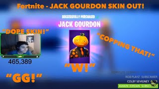 "STREAMERS REACT TO NEW ""JACK GOURDON"" SKIN! FORTNITE ITEM SHOP OCTOBER 19TH!"