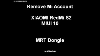 Mi M1803E6G Mi Account Remove Mrt