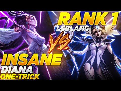 Rank 1 Leblanc vs. INSANE Diana one-trick! (INTENSE)