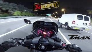 TEST TMAX 530 Akrapovic 2 Top Speed Bonus FIN