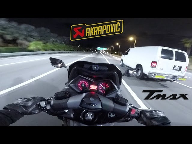 TEST TMAX 530 Akrapovic 2# | Top Speed + Bonus (FIN) 🇺🇸