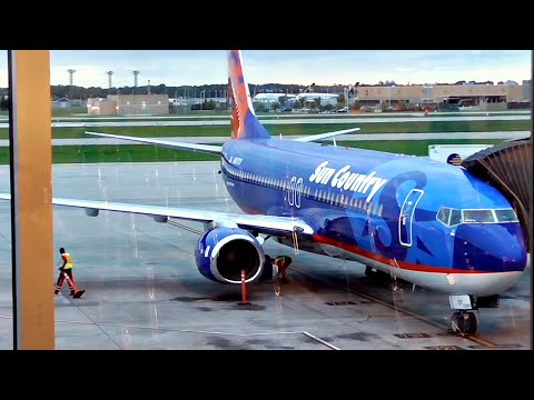 TRIP REPORT | Sun Country Airlines | Boeing 737-800 | Minneapolis - Los Angeles | Economy Class | ✈