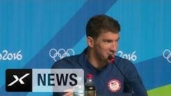 Bei Novak Djokovik ist selbst Michael Phelps nur ein Fan | Rio in 60 Sekunden